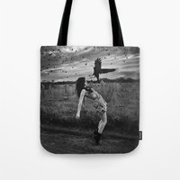 divergent Tote Bags featuring Divergent by Stephanie Massaro