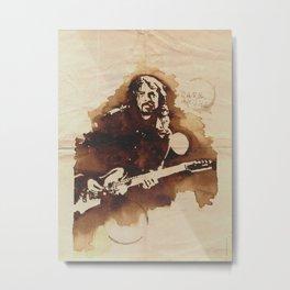 Dave Grohl Ilustracafe Metal Print