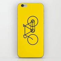 bicycle iPhone & iPod Skins featuring Bicycle by Luke Turner