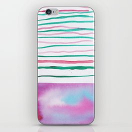 25  |181026 Lines & Color Block | Watercolor Abstract | Modern Watercolor Art iPhone Skin