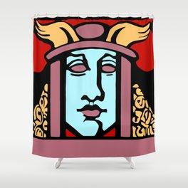 Jugendstil Einfuhrmesse Frankfurt re Shower Curtain