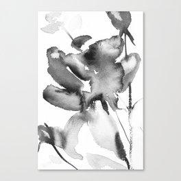 Black Rose watercolor Canvas Print