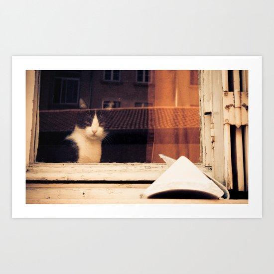 Cat's thinking. Art Print