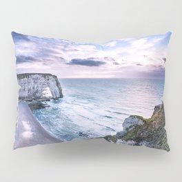 Natural Rock Arch -  ocean, coastal cliffs, waves, clouds, Pillow Sham