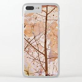 Autumn Tiles Clear iPhone Case