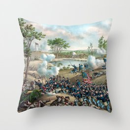 Battle of Cold Harbor -- Civil War Throw Pillow