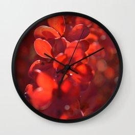 Vermilion Wall Clock