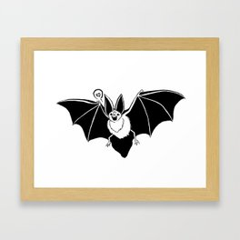 Mr. Bat Loves You Framed Art Print