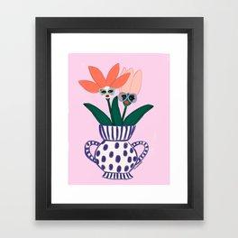 Sassy Flowers Framed Art Print