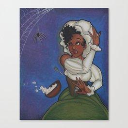 Little Miss Muffet Canvas Print