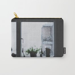 SHALLOW FOCUS PHOTOGRAPHY OF STAIRS WITH SNOW IN THE MORNING Carry-All Pouch