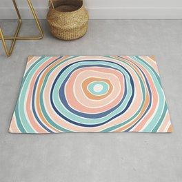 Rainbow (Infinite Loop) / Abstract Shapes Rug