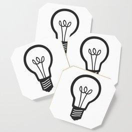 Simple Light Bulb Coaster