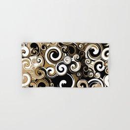 Coffee Swirls Hand & Bath Towel
