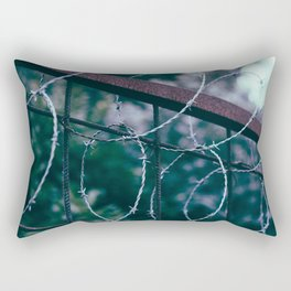 Blue Barb Wire Rectangular Pillow