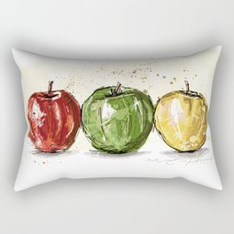 3 apples Rectangular Pillow