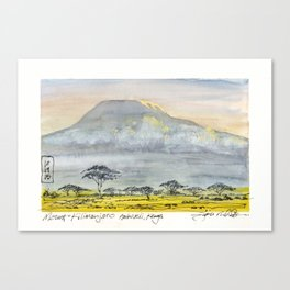 Kilimanjaro at Sunset Canvas Print