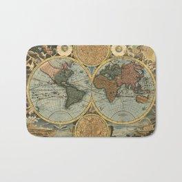 Old World Map Bath Mat