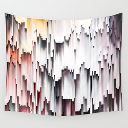 White Black Mauve Cascade Abstract Wall Tapestry