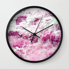 Pink foam Wall Clock