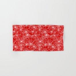 Blood Red Cobwebs Hand & Bath Towel