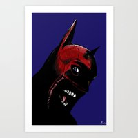 superhero Art Prints featuring Superhero by Giuseppe Cristiano