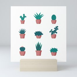 Cacti and Succulents Pattern Mini Art Print