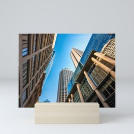 Low angle view perspective on Pitt Street in Sydney Mini Art Print