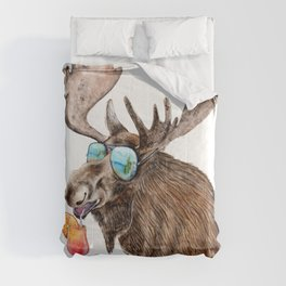 Moose on Vacation Comforters