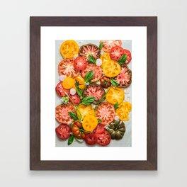 Heirloom Tomatoes Framed Art Print