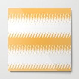 orange ikat  Metal Print