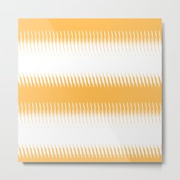 orange ikat  Metal Print