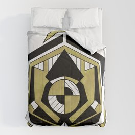 Cybernetic Apple 1 - Art Deco Design Comforters
