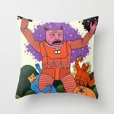 Catastic Four Throw Pillow