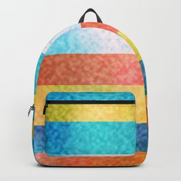 Frosted Glass Striped Pattern Summery Colors Backpack