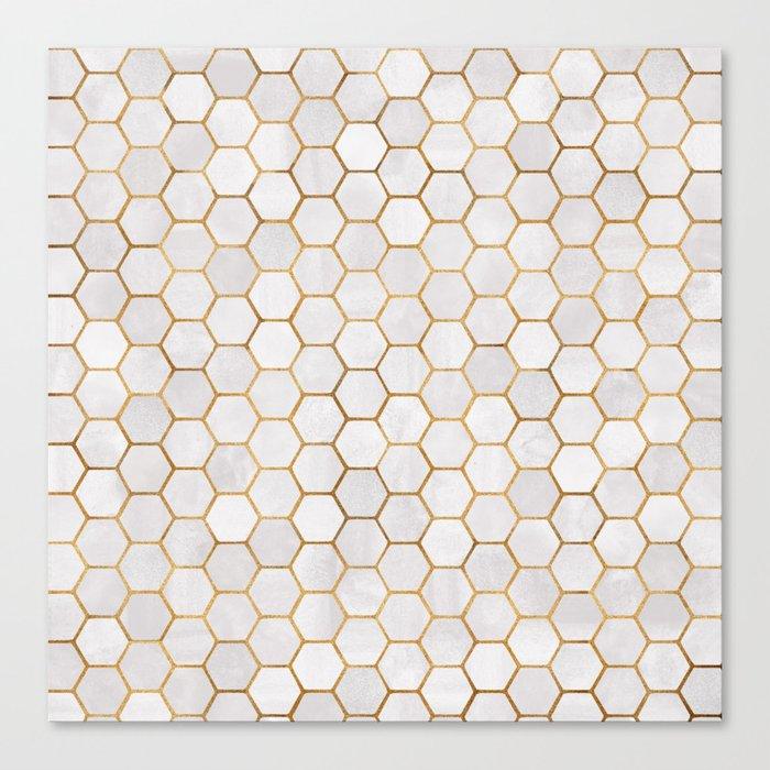 Geometric Hexagonal Pattern Leinwanddruck