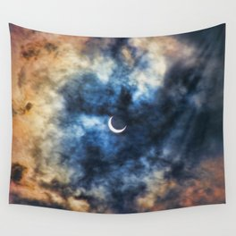 Night Moves - Partial Solar Eclipse Wall Tapestry
