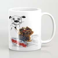 terrier Mugs featuring terrier by albertovna87