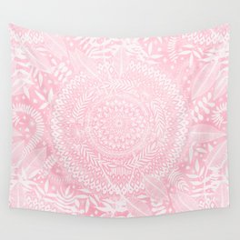 Medallion Pattern in Blush Pink Wall Tapestry