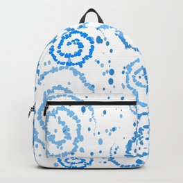 Abstract Blue Squigglisciousness Backpack