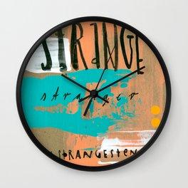 STRANGE stranger Wall Clock