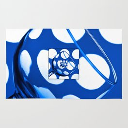 The Eternal Glass Dark Blue Rug