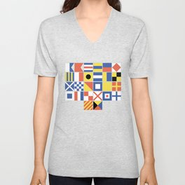 Nautical Flags Unisex V-Neck