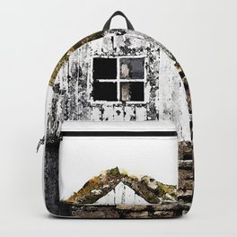 Watercolor Architecture, Icelandic Turf House 02 Backpack