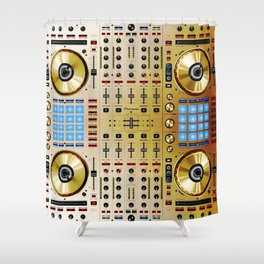 DDJ SX N In Limited Edition Gold Colorway Shower Curtain
