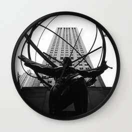 Atlas at the Rockefeller Center, New York Wall Clock