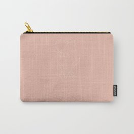 Minimal Rose 01 in Pink Carry-All Pouch
