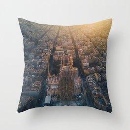 La Sagrada Familia - Barcelona, Spain Throw Pillow