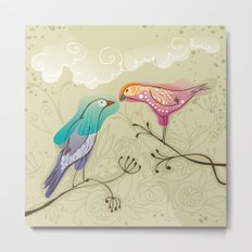 couple of beautiful love birds Metal Print