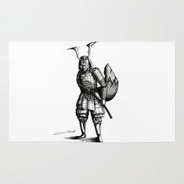 Samurai Fox Rug
